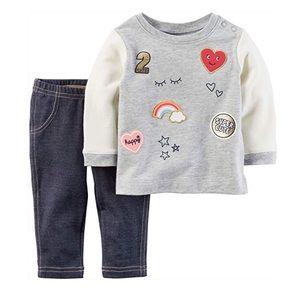 12M Infants Sweatshirt and Leggings Set